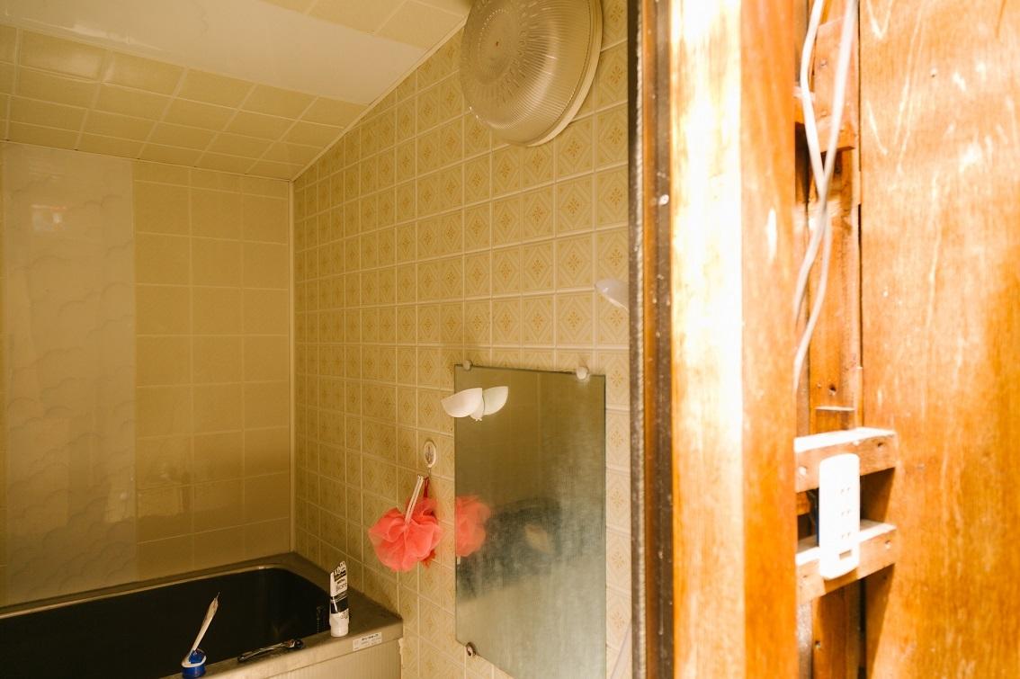 セルフリノベーションしたお風呂場