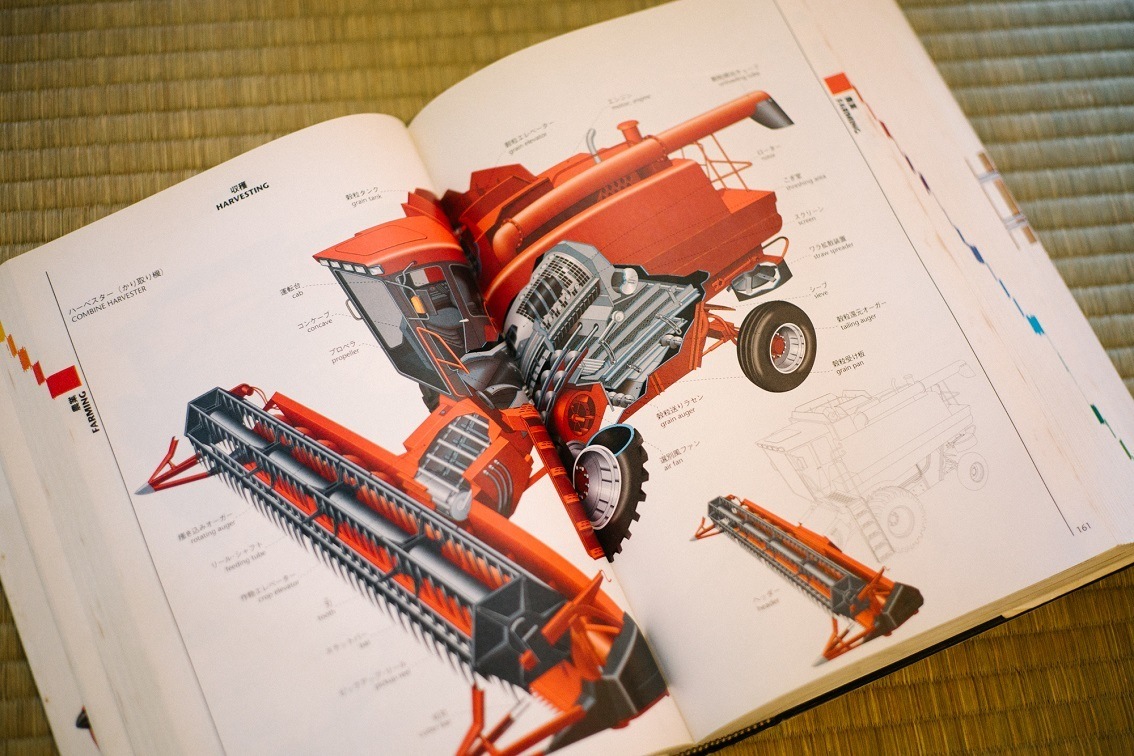 個人的には「耕作の手順」や「工業機械の解体図」ページが、好きですね