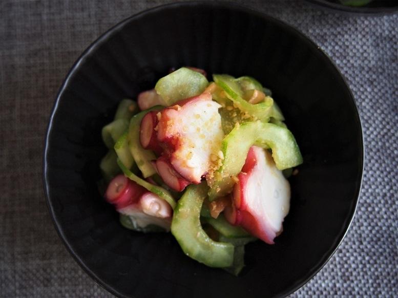 タコと白瓜の梅肉和え