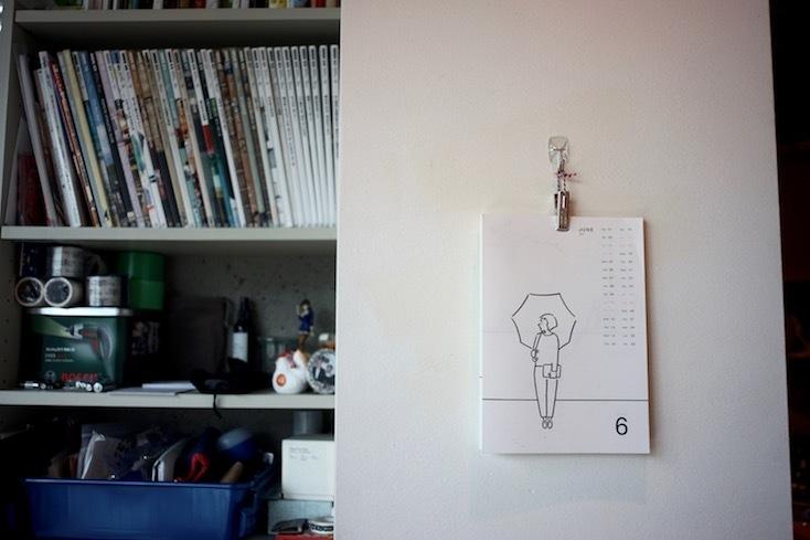 長場雄さんイラストのカレンダー