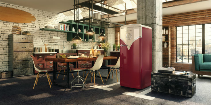 フォルクスワーゲンのレトロなワーゲンバスを彷彿とさせる冷蔵庫が誕生
