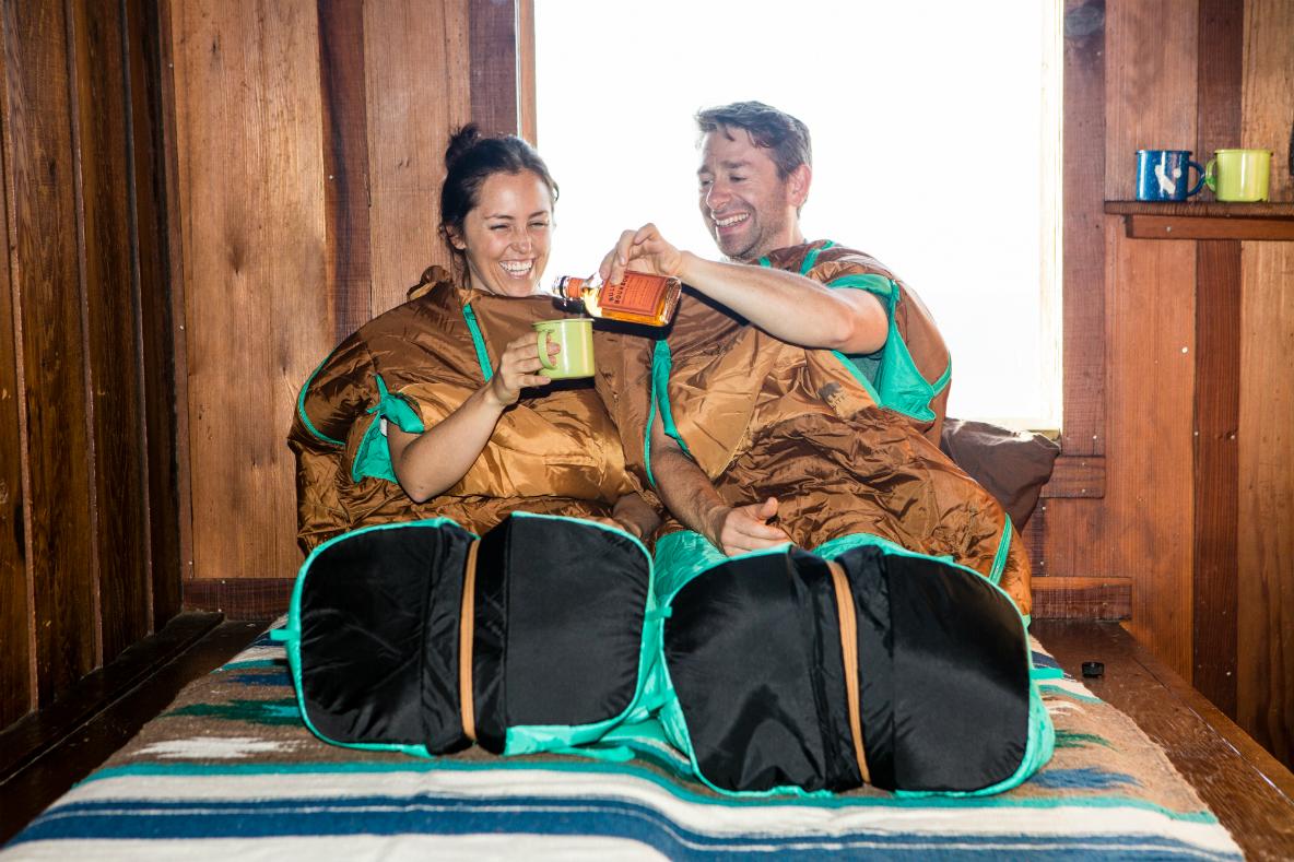 Alieの寝袋はファミリーやカップルにうれしい機能