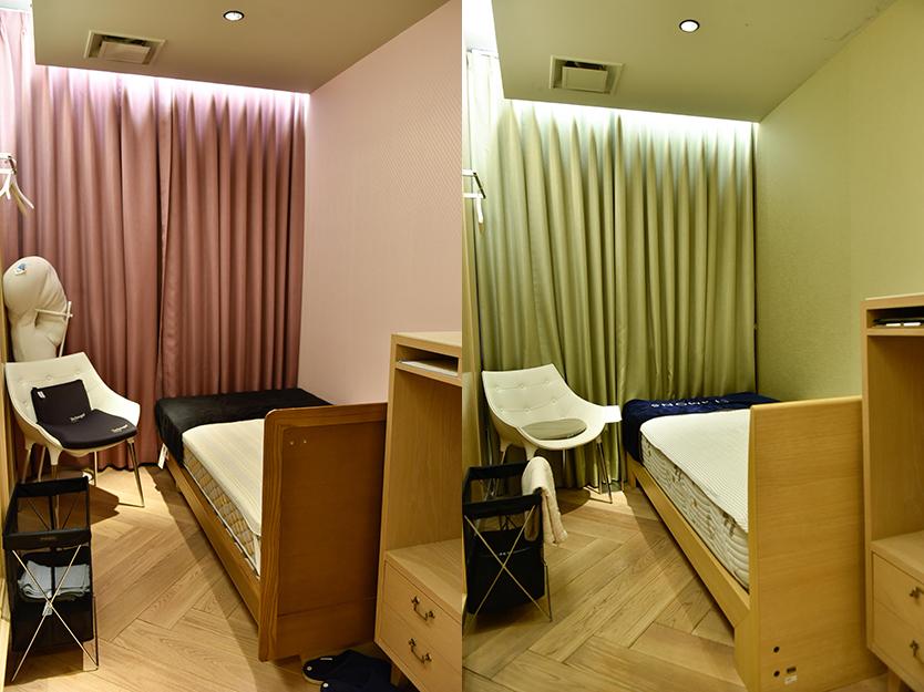 完全個室のコンサルティングルーム「ベッドルーム」