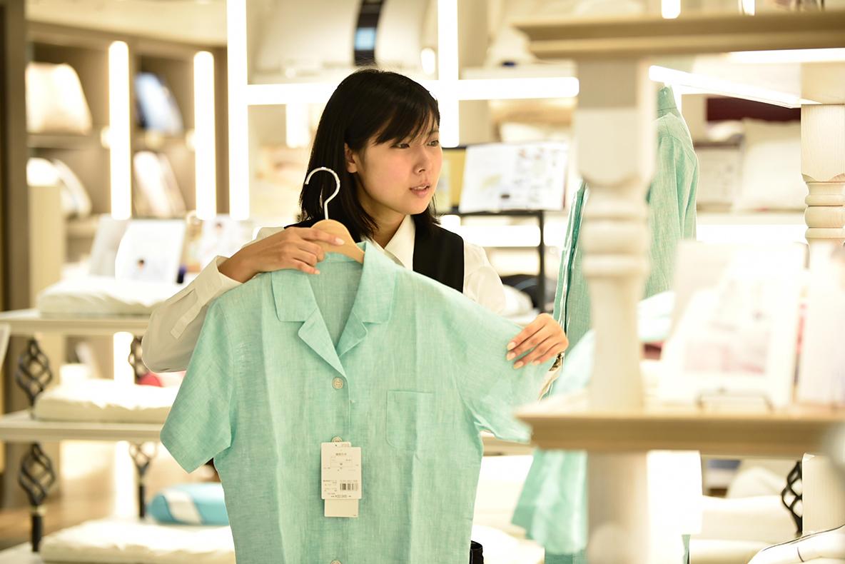 伊勢丹本館5階ベッドバスパウダールーム/ベッドルームコーナーのパジャマ