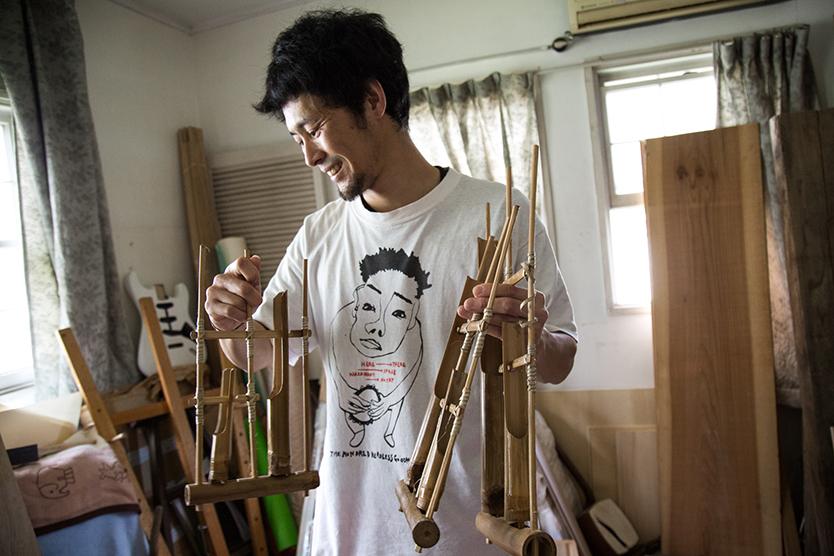馬喰町バンドが作った民族楽器