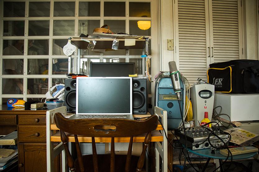 レトロな作業スペース