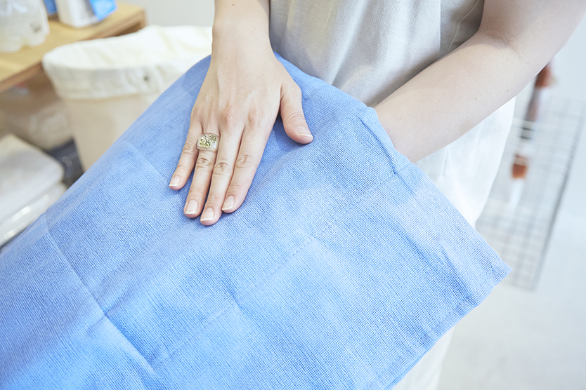 気持ちよく使える、中川政七商店の蚊帳のバスマット