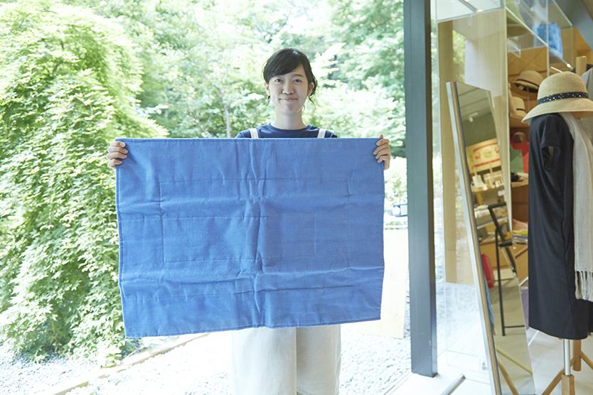 中川政七商店の、気持ちがいい蚊帳のバスマット