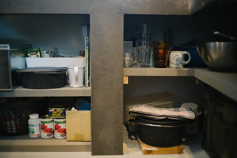 キッチンの見せる収納