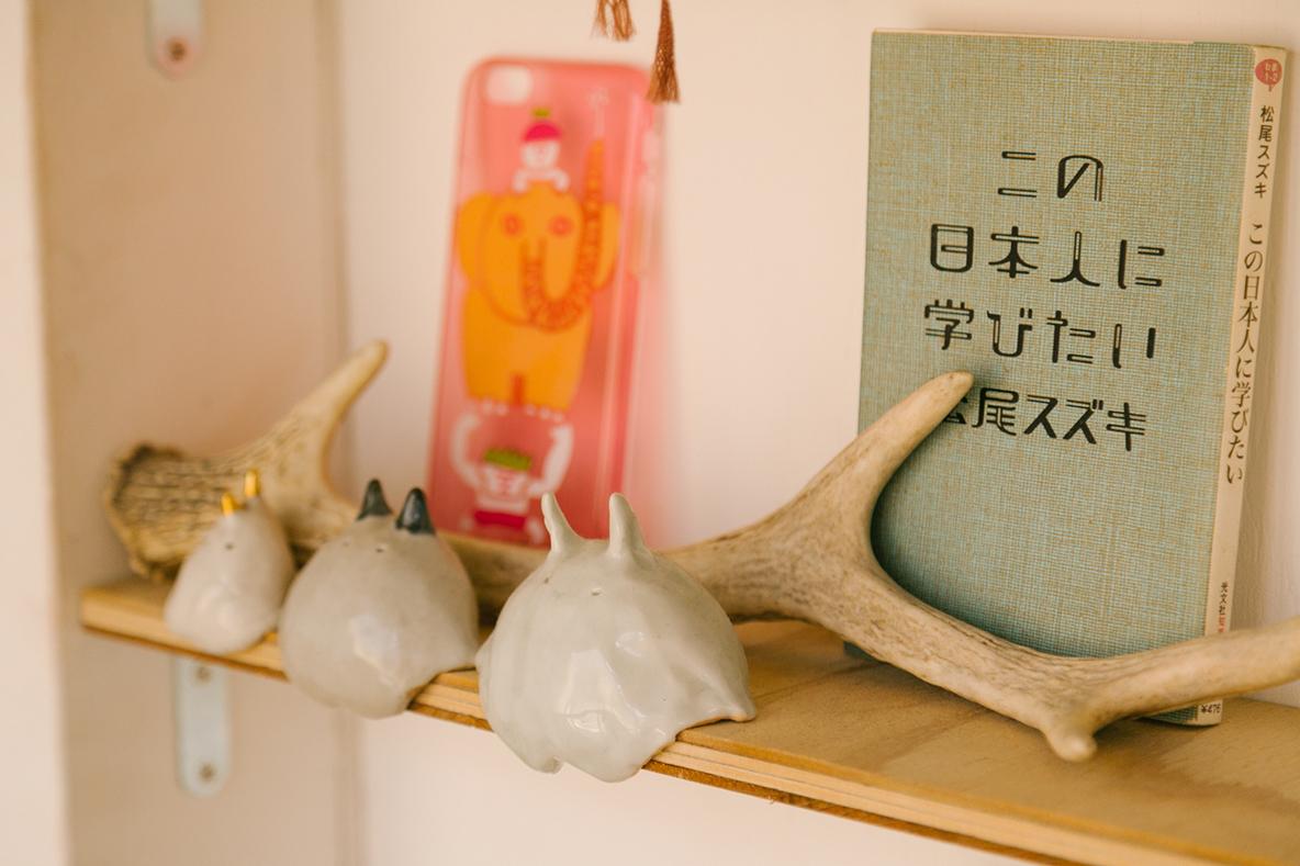 かわいい陶器の置物