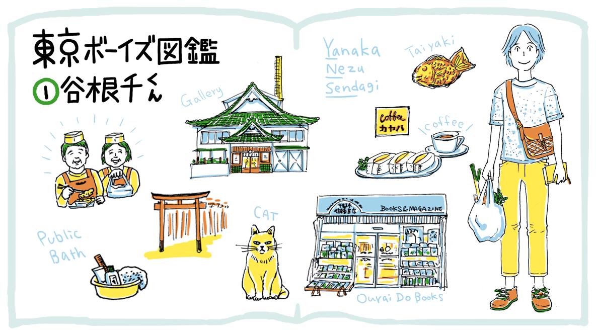 歩いて帰りがち、家族経営のお惣菜店さんに寄りがち(谷根千)|東京ボーイズ図鑑