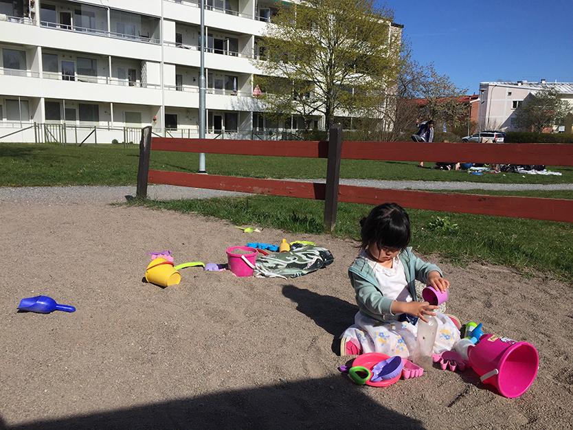 スウェーデンの集合住宅