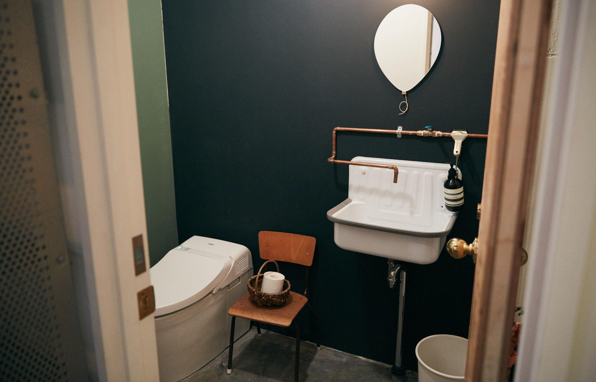 おしゃれで素敵なカフェのトイレ