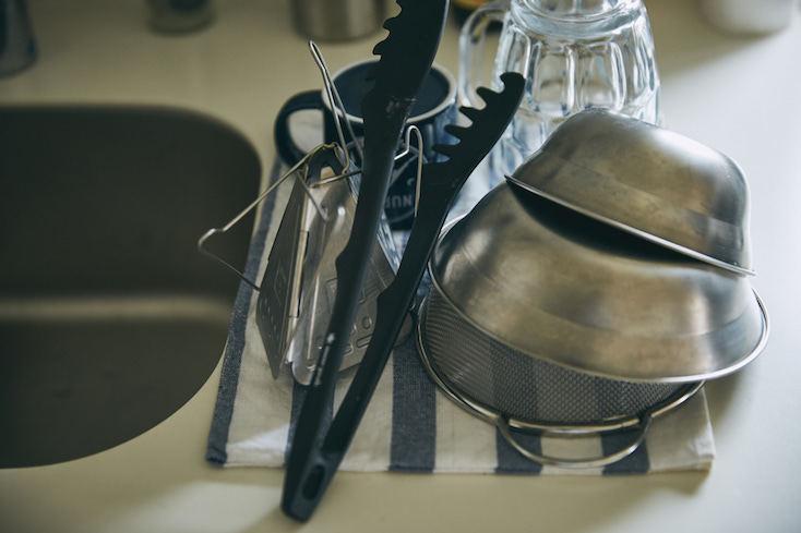 キッチン用品にキャンプ道具を使う
