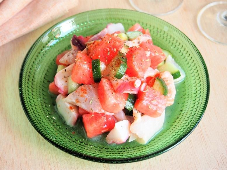 暑いときに食べたい南米料理「スイカの華やかセビーチェ」のレシピ