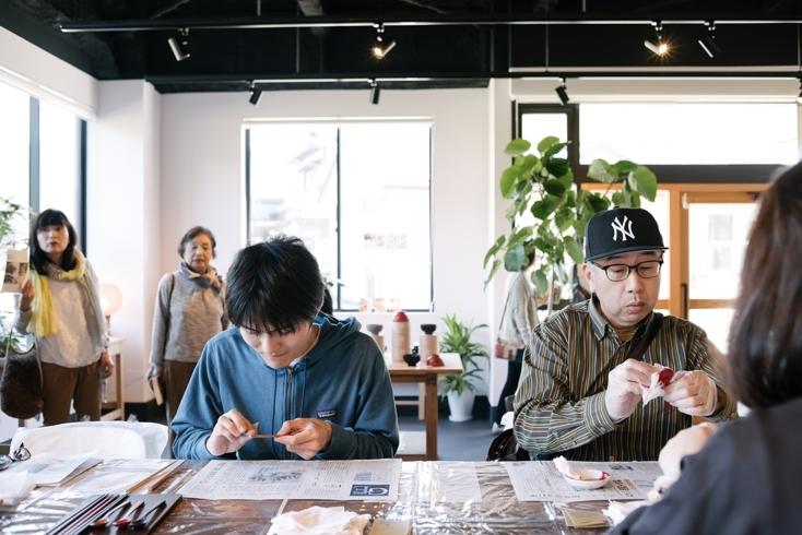 RENEW×大日本市鯖江博覧会の眼鏡・漆器の技術を体験できるワークショップ