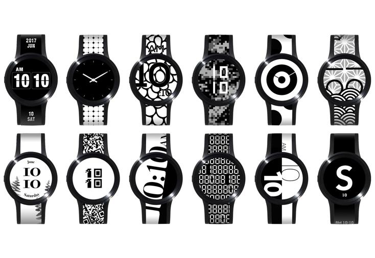 日替わりデザインが楽しめる電子ペーパーの腕時計FES Watch U