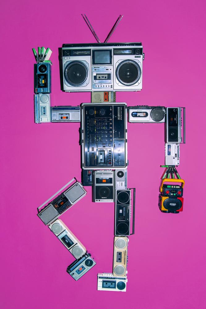 ラジカセとカセットテープが一堂に集結する大ラジカセ展