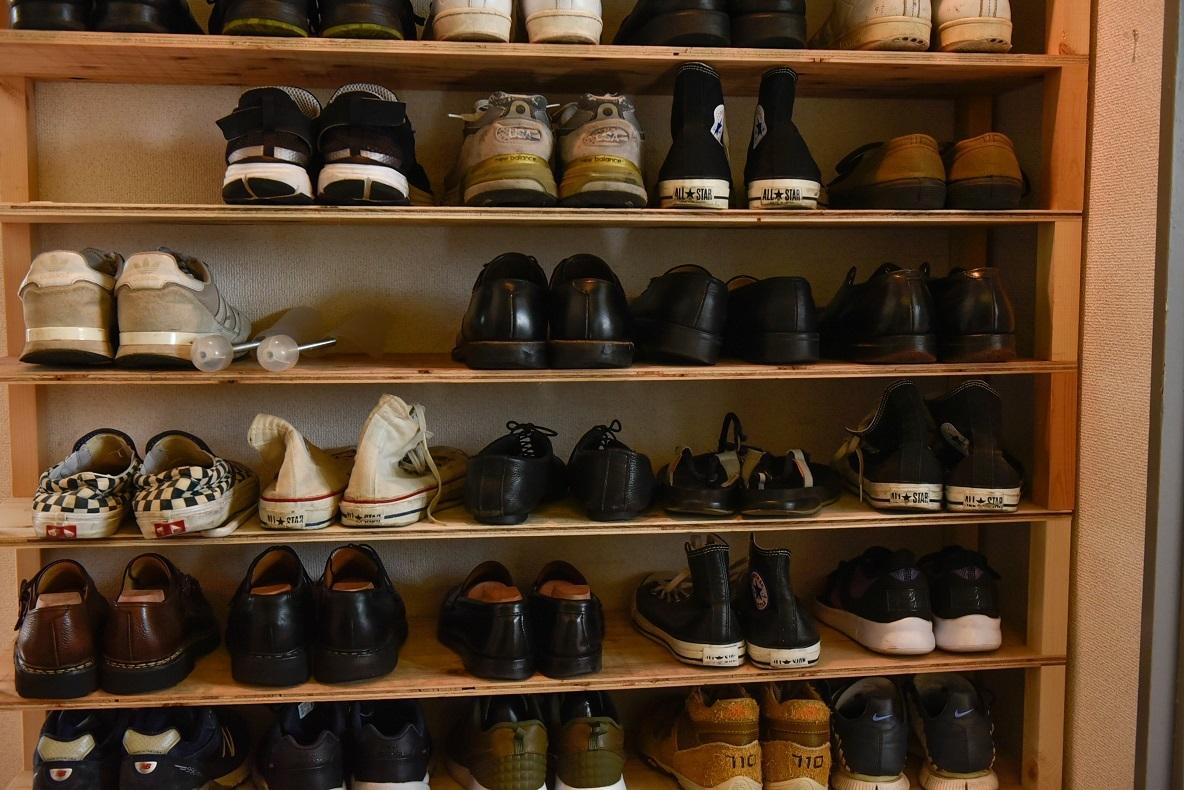 靴は1人2段まで