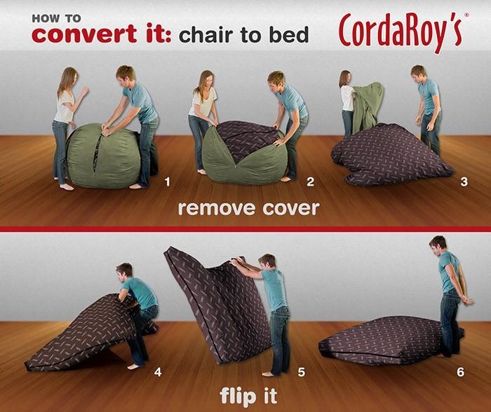 一度座ると、立ち上がる気力を失わせることで有名な丸いクッションソファ
