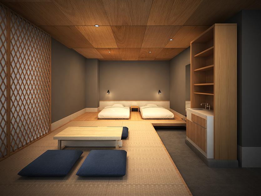 金沢に残る禅や茶の湯などの武家文化を、未来に紡ぐ文化サロンを目指すリノベーションホテル