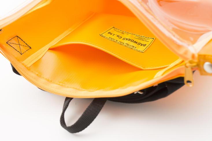 BAGWORKSのしごとのかばんは止水仕様のファスナー