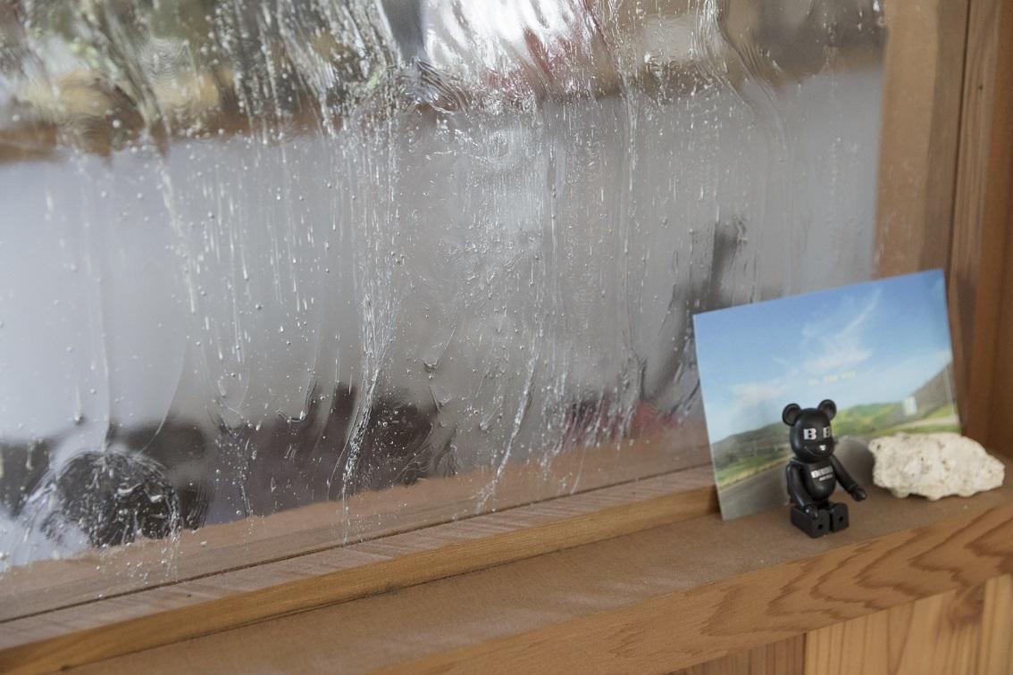 レトロなガラス窓