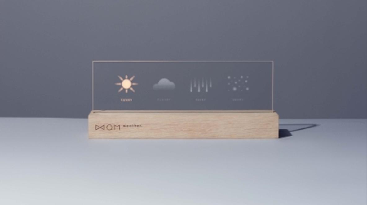 天気をシンプルに表示。インテリアとしても使いやすい気象予報アイテム