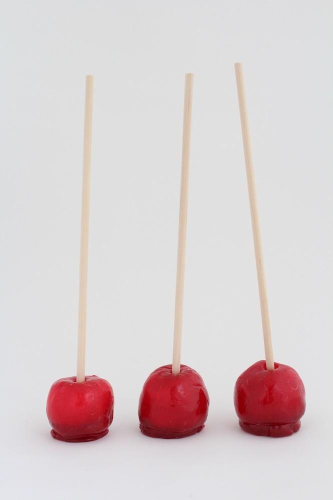 パパブブレのかわいいりんご飴