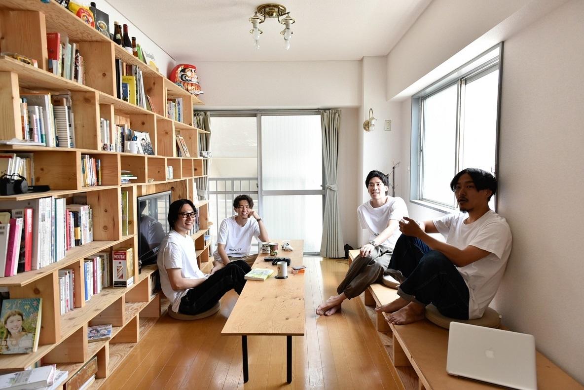 学生時代の仲間と暮らす、屋上付きシェアハウス(中野富士見町)|みんなの部屋