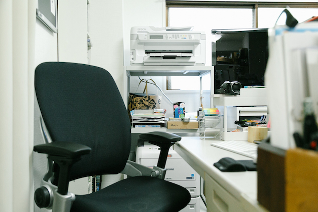 ライターの仕事部屋