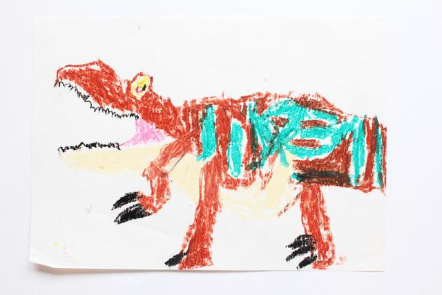5歳児が値段を決める美術館、ティラノサウルス