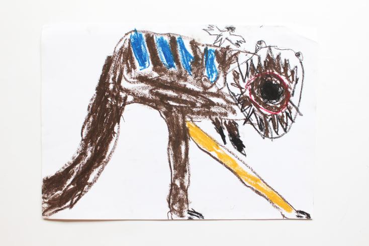 5歳児が値段を決める美術館、ぼくがのっているジジイのティラノサウルス