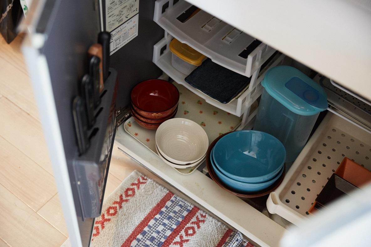 100円ショップを活用したキッチンの収納
