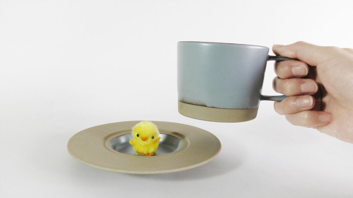 丸朝製陶所のMARUHI カップ&ソーサー