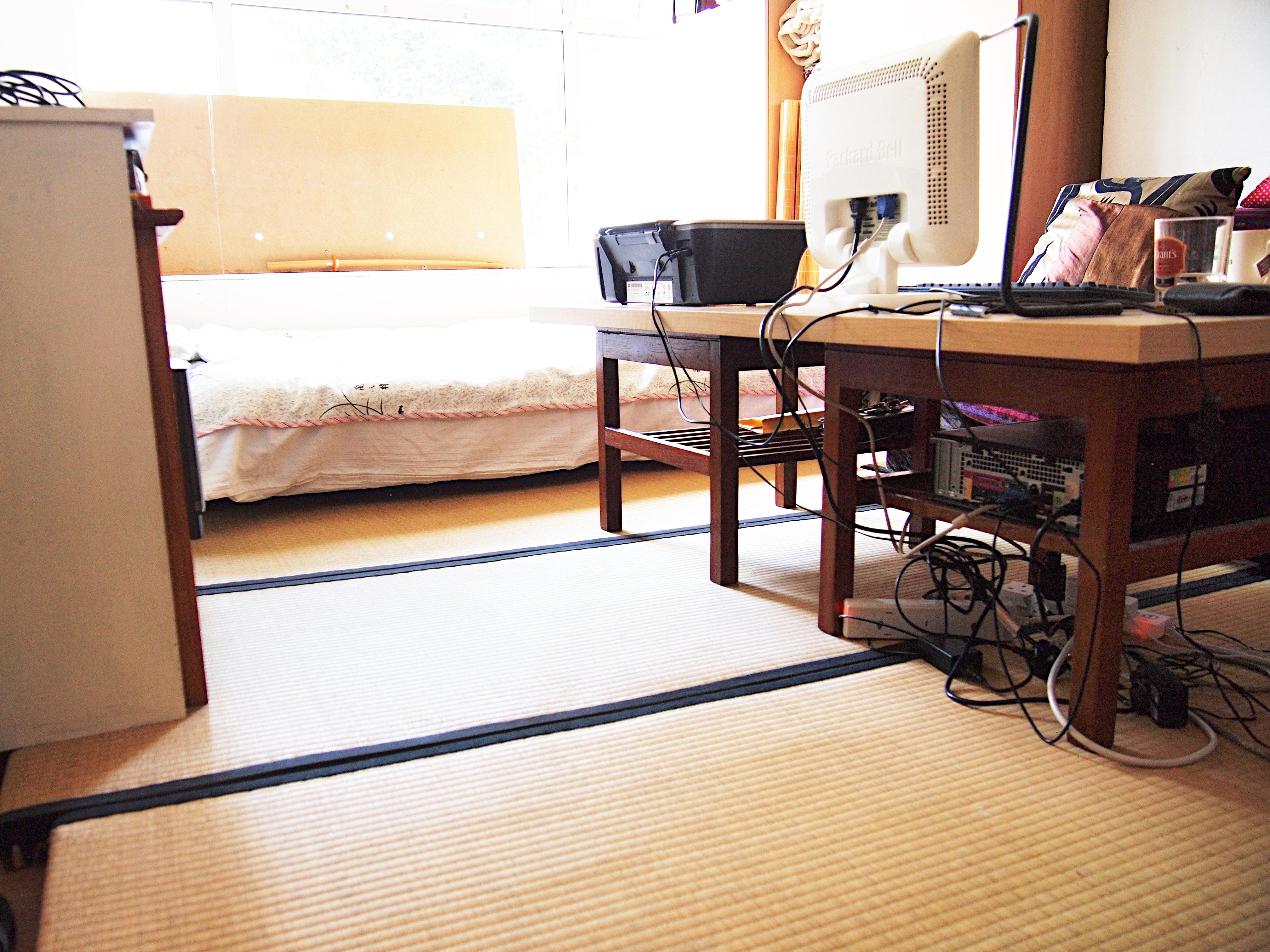 イギリスで畳が敷き詰められたスペース