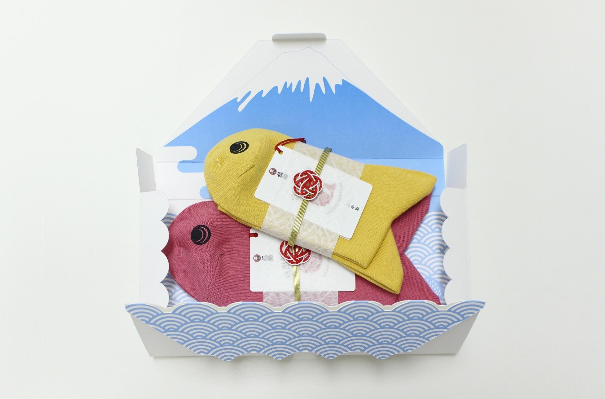 富士山をイメージした専用ギフトボックスもオプションとして選ぶことができる