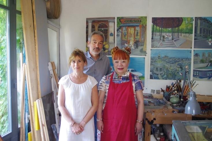 ハローキティのデザイナー・山口裕子さん、リサとガスパールの作者であるアン・グットマンさん、ゲオルグ・ハレンスレーベンさん