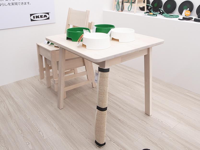 IKEAのペット用品LURVIG/ルールヴィグは既存のイケアアイテムに設置する寝床や爪研ぎ、小さなソファ、お散歩グッズなどが展開される