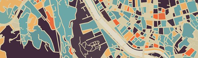 部屋に飾りたい地図Modern Map Art Prints
