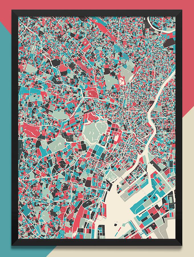 地図をDIYできるModern Map Art Prints