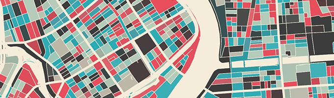 好きな地図をつくれるModern Map Art Prints