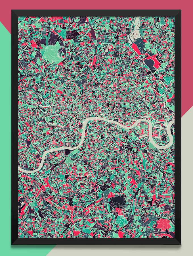 好きな場所や国の地図をつくれるModern Map Art Prints