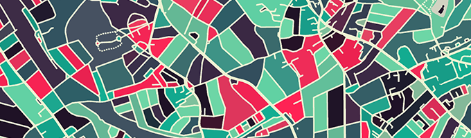 カスタマイズ地図をつくれるModern Map Art Prints