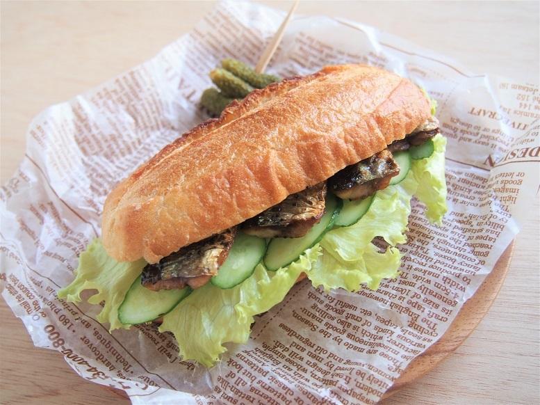 秋刀魚サンド