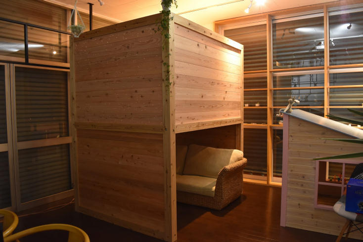プラネタリウム付き箱型ベッド