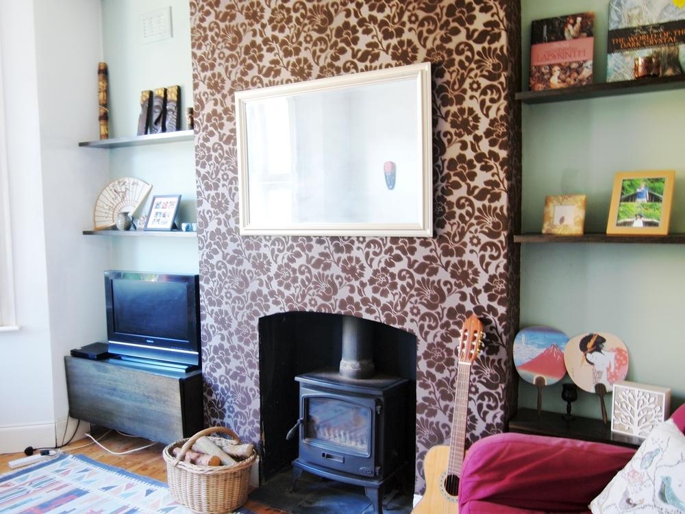 暖炉付きの素敵なロンドンのアパート