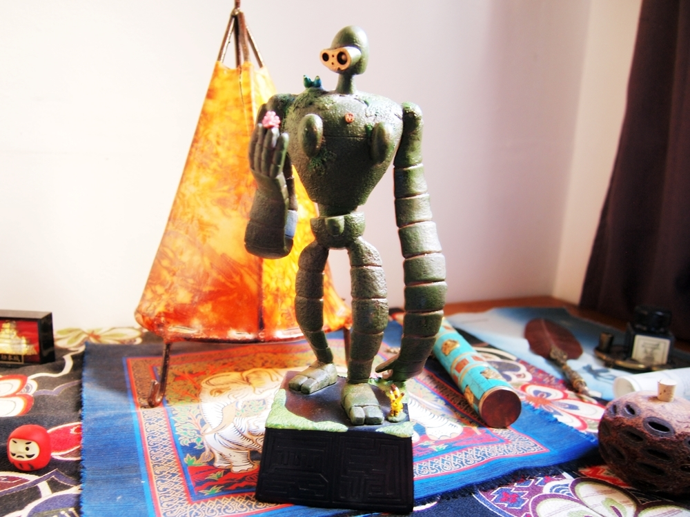『天空の城ラピュタ』に登場するロボット兵の模型