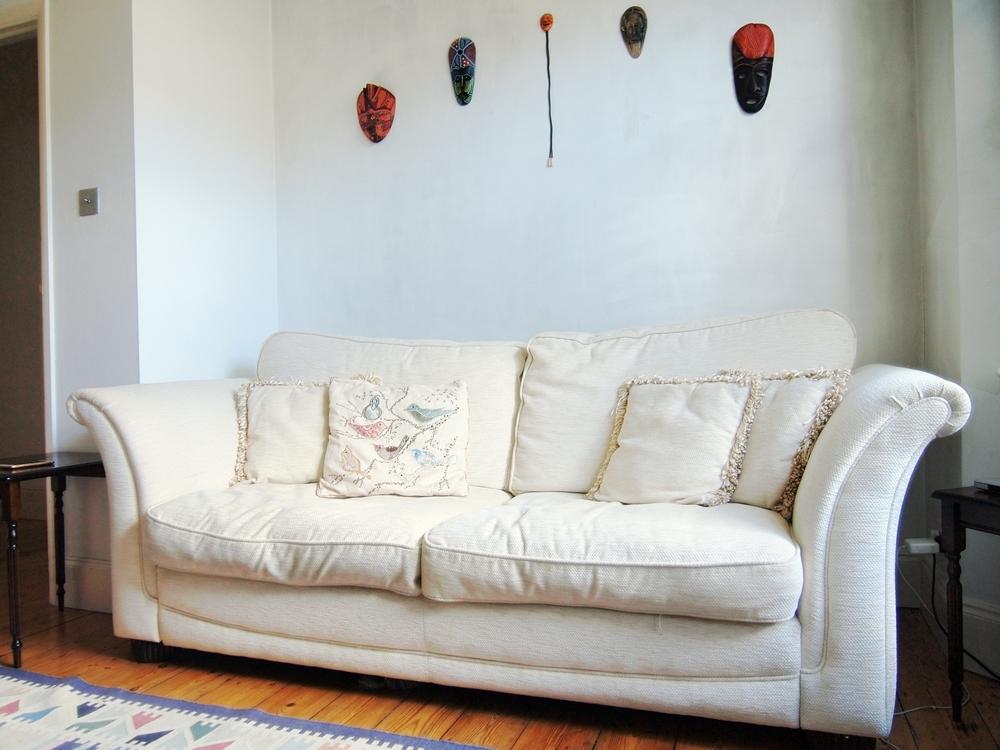 中古で買ったおしゃれなソファ