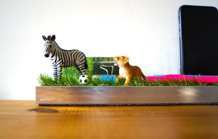 人工芝のトレイ「midori」シリーズ